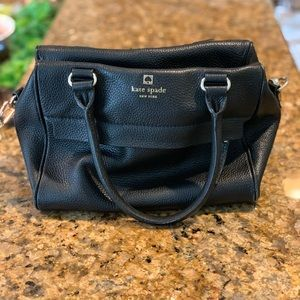 Kate Spade bag. Black. Shoulder strap.